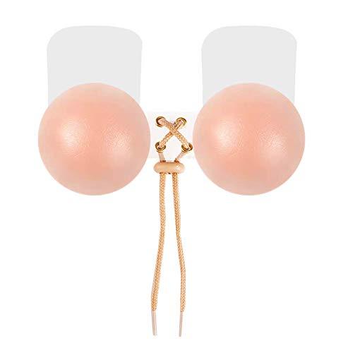 BOZEVON Copricapezzoli in Silicone - Riutilizzabili Push Up Breast Lift Pasties Fissaggi Invisibili Adesivi Capicorda Capezzoli Forma di Rotonda