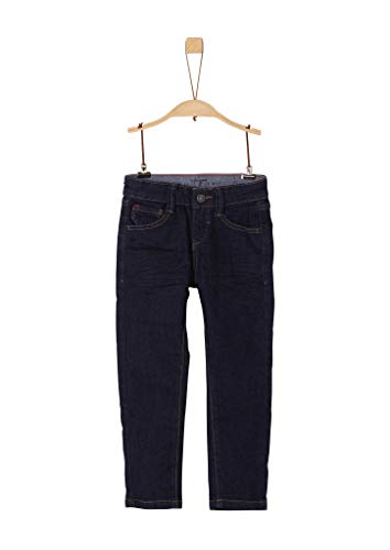 s.Oliver RED LABEL Jungen Slim Fit: Slim leg-Denim aus elastischer Qualität dark blue stretche 122.SLIM