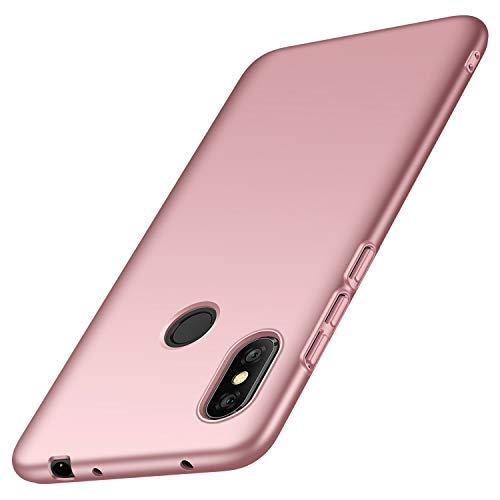 """deconext Funda Redmi Note 6 Pro(2018), Carcasa Ultra Slim Anti-Rasguño y Resistente Huellas Dactilares Protectora Caso de Duro Cover Case paraRedmi Note 6 Pro(2018) 6,26""""Rosa Suave"""