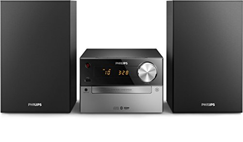 Philips BTM2325 Mini Chaîne Hifi Bluetooth avec Lecteur CD, Radio FM, USB, Réveil, Facile à Utiliser pour Enfants