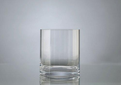 Vase Cylindrique en verre, hauteur 17 cm, Amadeus