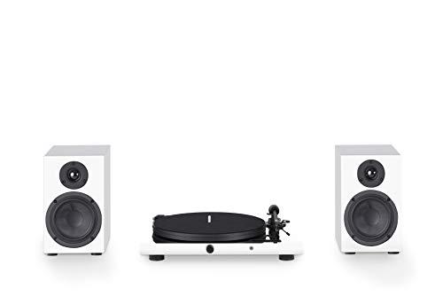 "Pro Ject Juke Box E HiFi Set, ""All-in-one Plug & Play"" System mit Lautsprecher und BT Audio Streaming (Weiß)"