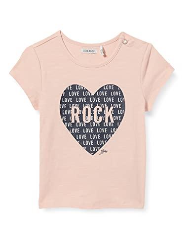 IKKS tee-Shirt Rose pâle imprimé cœur Rock Camiseta, Rosa, 18 Meses para...