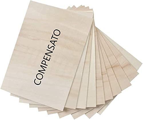 Placa de madera contrachapada Panel de madera para decoupage DIY para grabado láser o revestimientos, flexible Bricolaje y decoración de pirografía con agujero (3 mm, 40 x 40 cm)