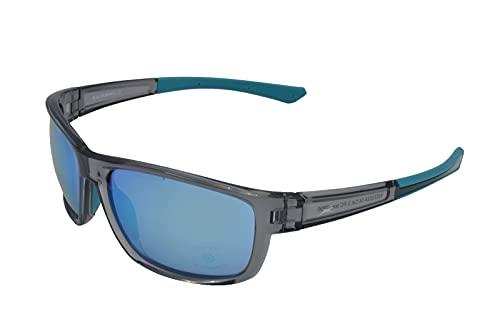 Gamswild WS7532 Sonnenbrille Sportbrille Skibrille Herren Damen Fahrradbrille Unisex   grau-transparent   grün-türkis   pink   grau-beige, Farbe: Grau cat.2