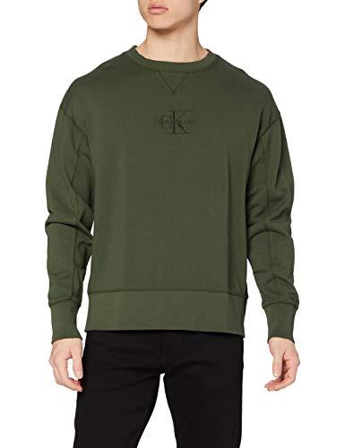 Calvin Klein Jeans Herren Acid Wash Crew Neck Pullover, Deep Depths, S