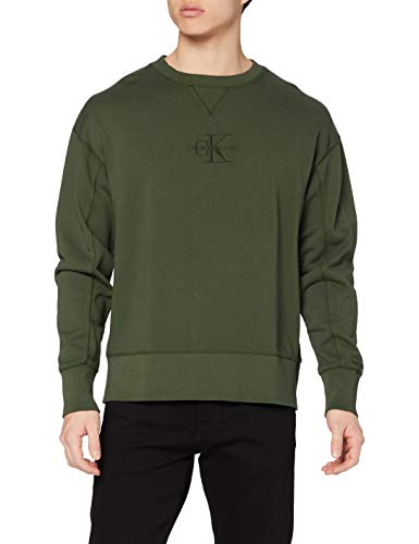 Calvin Klein Acid Wash Crew Neck Suéter, Deep Depth, XS para Hombre