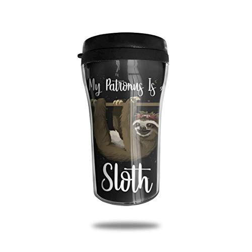 My Patronus is a Faultier Kaffeetasse, doppelwandig, wiederverwendbar, für Kaffee, Tee und Bier