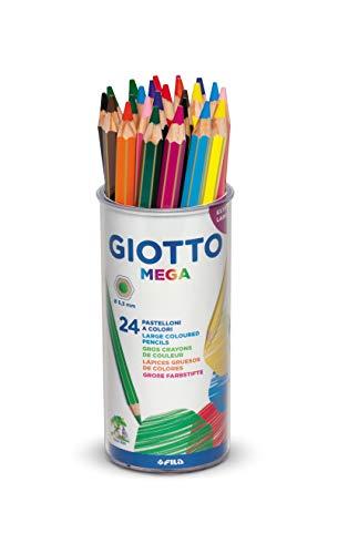 Giotto Mega - Barattolo 24 Pastelli Colorati