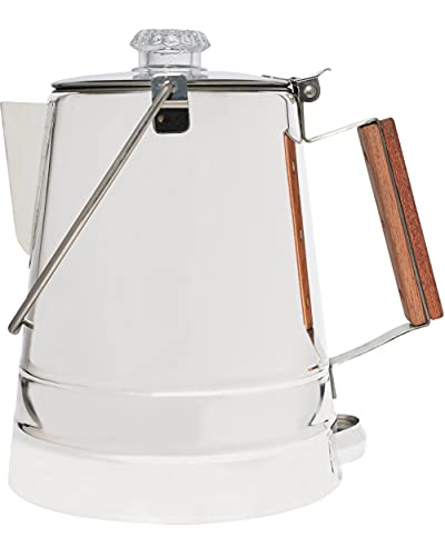 COLETTI Butte Camping Coffee Pot | Campfire Coffee Pot | Stainless Steel Coffee Maker for Outdoors or Stovetop – 14 Cup (14 CUP)