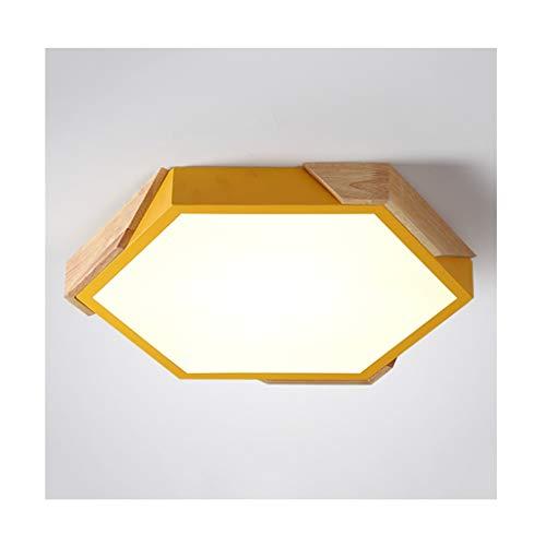 WFL- iluminación Luz de Techo Nordic Macaron Geometry , LED Acrylic Wood...