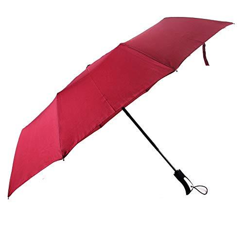 Paraguas Paraguas Paraguas Plegable para Mujeres de los Hombres Medidas para la Temporada de Lluvias 190T 10 Huesos Tres Pliegues Ligero Combinación de Lluvia y Lluvia Paraguas Repelente al Agua