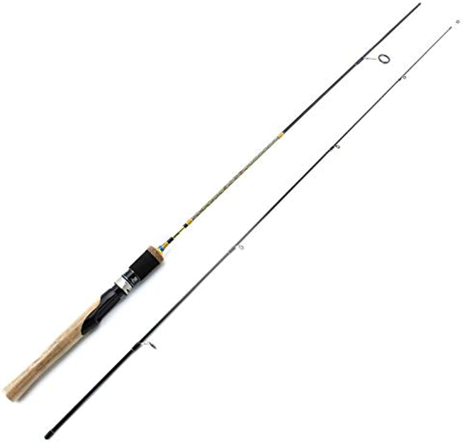 FISHYY Angelrute 1.68m 1.8M 1.98m UL-Power-Spinnrute 2 Sek. Carbon Lure wt 2-8g Angelrute-Spinnerei Schnell Ultraleicht Spinnrute