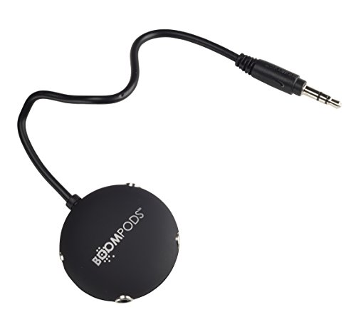 Boompods MPBLK Audio-Splitter, schwarz