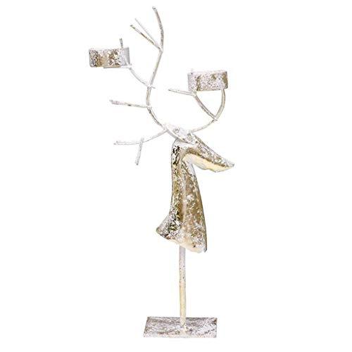 SHYPT Titular de la vela, ciervos de la Navidad de la palmatoria...
