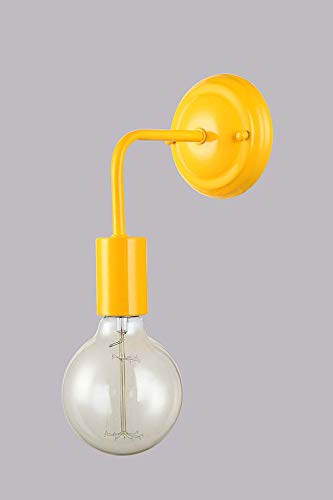 ALBA A1 YW lampada da parete applique moderno metallo giallo a Led minimal cucina salone DIAMANTLUX