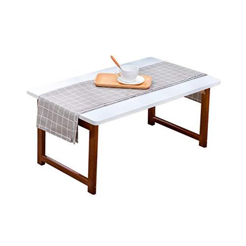 RENJUN Cama portátil Mesa de bambú Plegable portátil Bandeja de Escritorio Libro de sofá con cojín Mesa Plegable (Color : Right Angles, Size : 80CM)