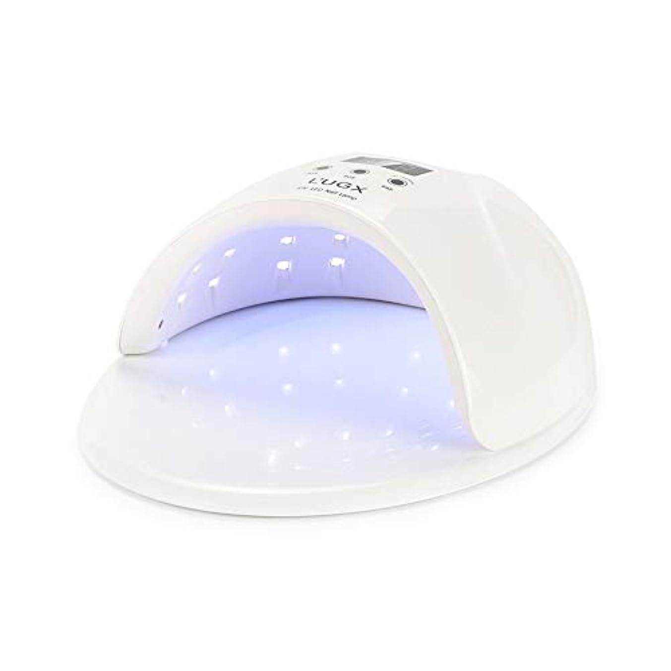 コロニアル冷ややかなより良いジェルネイルランプ、3タイマー設定付き50W UV LEDジェルネイルドライヤー - ジェルネイルポリッシュランプ