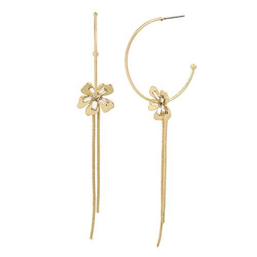Jessica Simpson - Pendientes de aro con cadena de flores