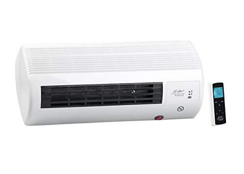 Sichler Haushaltsgeräte Wandheizlüfter Bad: Kompakter Wandheizlüfter mit Fernbedienung, Thermostat, 2.000 Watt (Heizlüfter Wandmontage)