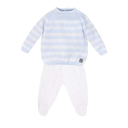 Minutus Jersey y Polaina bebé, Conjunto Capla, 100% Algodón (Azul Celeste, 1-3 meses)