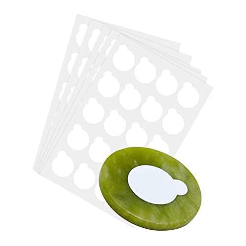 Lurrose 100PCS Disposable Eyelash Glue Holder Eyelash Extension Sticker Paper Adhesive Eyelash Pad Stand Supplies for Home Salon Makeup
