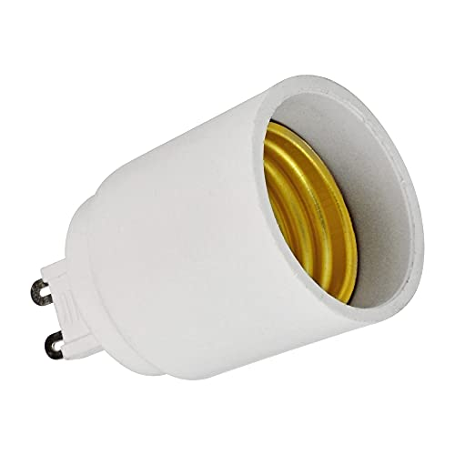 LEDKIA LIGHTING Adaptador/Conversor G9 a E27 Casquillo Gordo Blanco