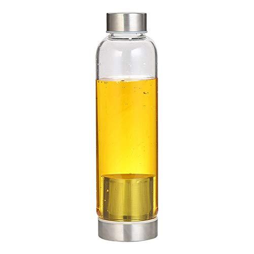 Wasserflasche Trinkflasche Sport Wasser Tasse Sport Flasche Glas Flasche Für Getränke und Saft Wiederverwendbare Wasserflasche Große Wasser Flasche Gold,16oz