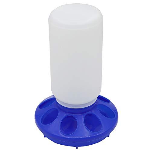 Plástico colgante de aves de corral alimentador bebedor de pollo/pollo Starter Kit montaje sistema de alimentación automática (azul)