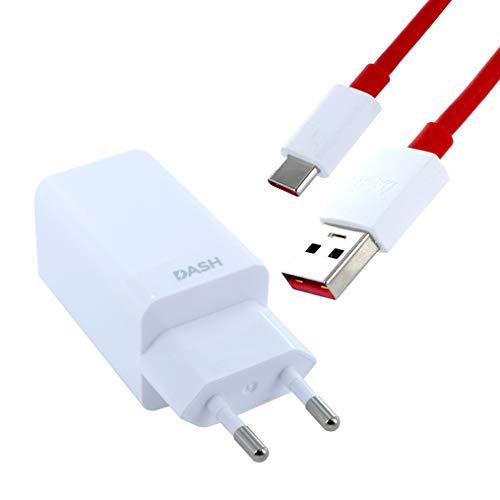 Ladegerät für Original OnePlus DC0504 - Dash Ladekabel + Typ-C USB für OnePlus 7T, OnePlus 7T Pro, OnePlus 6T, OnePlus 6, OnePlus 5T, OnePlus 5, OnePlus 3T, OnePlus 3 + Kugelschreiber ALABAMA