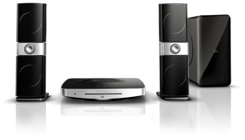 Philips HTS9221/12 2.1 3D Blu-ray Heimkinosystem (HDMI 1.4, Full HD, 500 W, Titan-Hochtöner, iPod/iPhone Docking) schwarz