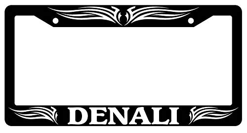 License Plate Frames, Black License Plate Frame DENALI TRIBAL #1 Auto Accessory 1983 Applicable to Standard car Rust-Proof Rattle-Proof Weather-Proof License Plate Frame Cover 15x30cm