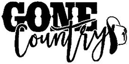 Gone Country with Cowboy Hat NOK Decal Vinyl Sticker |Cars Trucks Vans Walls Laptop|Black|5.5 x 3.0 in|NOK479