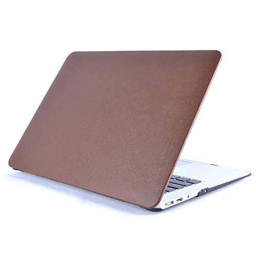 Sevenplusone Light and beautiful, easy to carry. Laptop PU Leather Paste Case for MacBook Pro 15.4 inch A1286 (2008-2012),All buttons and ports are easy to access.(Black) (Color : Brown)