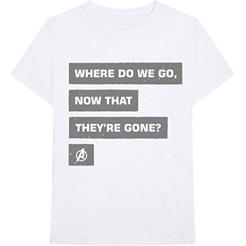 T-Shirt # XXL Unisex White # Avengers Now That They're Gone [Import]