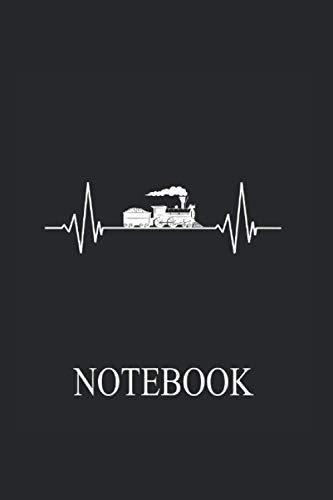 Notebook: Cuaderno de notas de la maqueta del ferrocarril cuadrícula de puntos bloc de notas del maquinista diario del maquinista locomotora de vapor regalo de cumpleaños Vintage Retro Classic