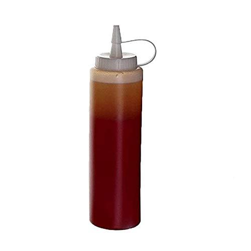 HXGL-Drum 24oz Kunststoff Handpresse Quetschflasche Marmelade Tomatensalat Sauce Spender Gewürz Dressing Ketchup Küche Gadget Kuchen Dekorationswerkzeug