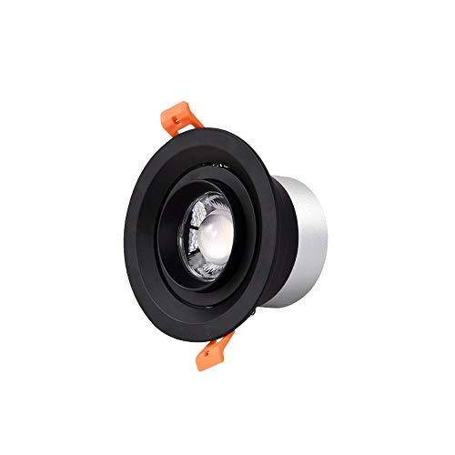 Foco de luz descendente con foco LED Foco ajustable, accesorio de iluminación empotrado en el techo, lámpara de pared Creative Wash, ángulo de haz de 15-60 grados, for la cocina de la sala de estar de