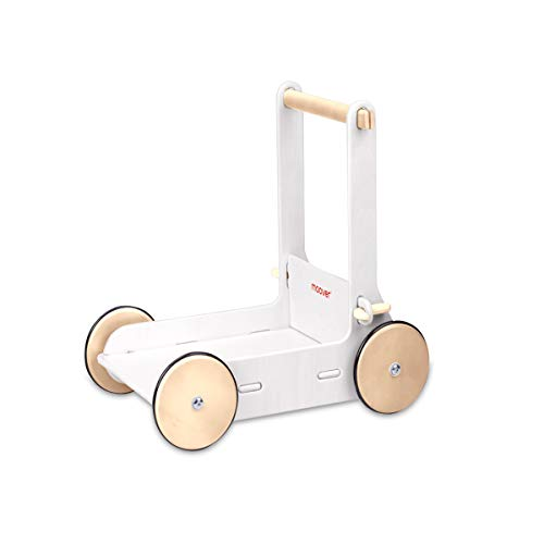 Moover ベビーウォーカー 【ホワイト】 手押し車 歩行器 歩行練習 つかまり立ち 木製 北欧デザイン おしゃれ 幼児 赤ちゃん 対象年齢 8ヶ月以上