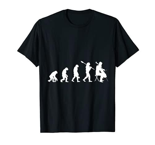 Evolution Cellospieler Geschenk Musiker Musik Cello T-Shirt