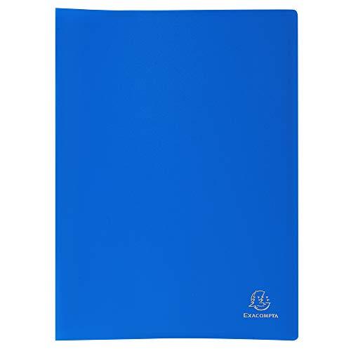 Exacompta 85102E - Carpeta de fundas de polipropileno flexible (100 vistas, A4), color azul
