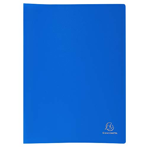 Exacompta 85102E - Carpeta de fundas de polipropileno flexible (100 vistas, A4), color azul