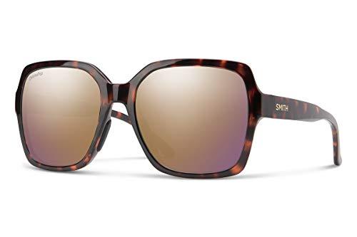 SMITH Flare Gafas de Sol, Unisex Adulto, Espejo polarizado Dorado Rosa con diseño de Tortuga y cromaPop, 57