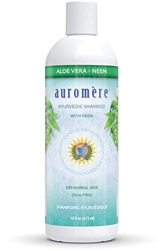 Ayurvedic Aloe-Vera Neem Shampoo by Auromere - All Natural Wild-Crafted Indigenous Herbs and Essential Oils Used to Cleanse, Nourish and Rejuvenate Hair and Scalp - 16 fl oz