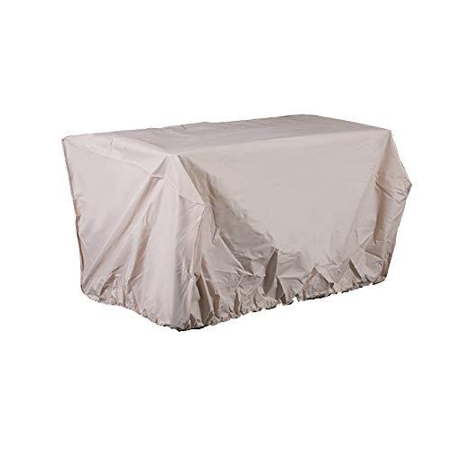 LDIW Schutzhülle für Gartenmöbel, Oxford-Gewebe Wasserdicht Abdeckung für Gartenmöbel für Tisch 152,4x88,9x81,28 cm, Beige