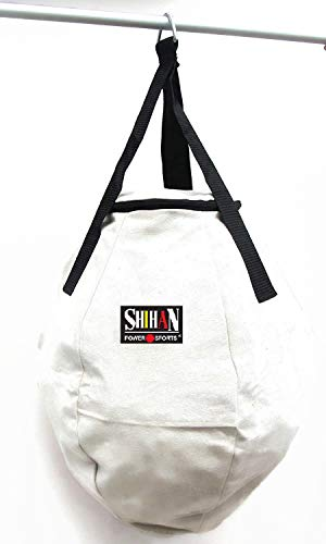 Boxing bag Saco de Boxeo Blanco con diseño de Bola de Wrecking (60 cm, sin Relleno), Ideal para Todas Las Artes Marciales, Entrenamiento, el Cuerpo Snatcher