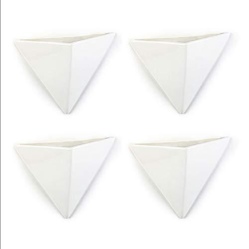 Umidificatore 4 pezzi in ceramica Geometrical piatto per il fissaggio al termosifone, evaporatore acqua diffusore, vaso da parete a1676