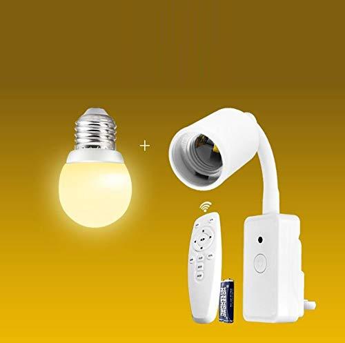 Afstandsbediening, stopcontact, plug-in creatief energiebesparend nachtlampje van nacht baby slaapkamer bedlampje met schakelaar stekker