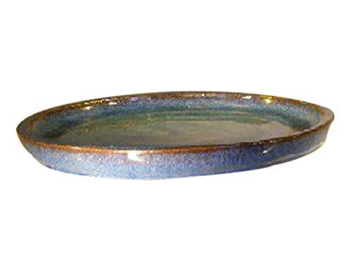 Blue Ceramic Humidity/Drip Bonsai Tray - Round 14.0 x 1.5 OD / 13.0 x 1.0 ID