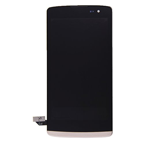 Zhangl Pantalla LCD del teléfono móvil Pantalla LCD digitalizador dePantalla táctil con Marco para LG Leon / H340 Pantalla de CD (Color : Gold)